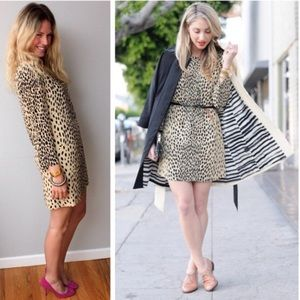 J.Crew Jules wild-animal print mini shift dress
